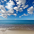 Heavenly Beach Under The Blue Sky by Constantinos Iliopoulos