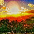 Heavenly Light. North Carolina Blue Ridge by Robin Bloom