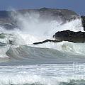 Heavy Surf Action Fernando De Noronha Brazil 1 by Bob Christopher