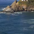 Heceta Head Lighthouse 2 D by John Brueske