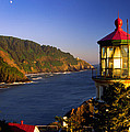 Heceta Head Moonrise by Inge Johnsson