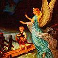 Heiliger Schutzengel  Guardian Angel 11 Oil by MotionAge Designs
