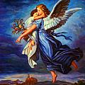Heiliger Schutzengel  Guardian Angel 7 Oil by MotionAge Designs