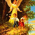Heiliger Schutzengel Guardian Angel 8 Oil by MotionAge Designs