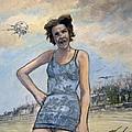 Helen Of Troy Vs Sputnik by William Stoneham