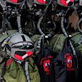Helmets And Flight Gear Of Hellenic Air by Timm Ziegenthaler