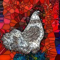 Hen Watch I by Saundra Myles