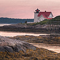 Hendricks Head Light At Sunset by At Lands End Photography