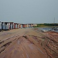 Hengistbury Beach Huts by Linda Monk