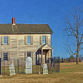 Henry House In Winter / Manassas National Battlefield by Digital Photographic Arts