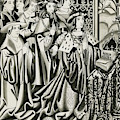 Henry Vi And His Court At  Prayer by Mary Evans Picture Library