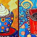 Her And His Coffee Cups by Ana Maria Edulescu