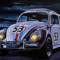 Herbie The Love Bug Painting by Paul Meijering