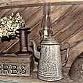 Herbs Bw by Sylvia Thornton