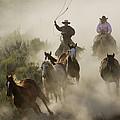 Herding Horses Oregon by Konrad Wothe