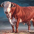 Hereford Bull by Hans Droog