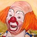 Watercolor Clown #9 Herky The Clown by Patty Vicknair