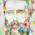 Herman Melville Watercolor Portrait.1 by Fabrizio Cassetta
