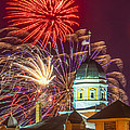 Hermann Mo Courthouse On July 4th by Tony Carosella