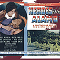 Heroes Of The Alamo Lobby Card 1936 Julian Rivero Collage Color Added 2012 by David Lee Guss