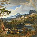 Heroic Landscape With Rainbow by Joseph Anton Koch