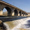 Hexham Bridge And Weir by David Head