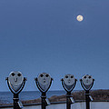 Hey Take Our Picture Infront Of The Moon by Steve Gravano