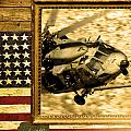 Hh-60 Pave Hawk Rustic Flag by Reggie Saunders