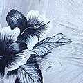Hibiscus  Black And White by Renate Voigt