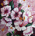 Hibiscus Pink 3  by Karin  Dawn Kelshall- Best