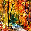 Hidden Emotions - Palette Knife Oil Painting On Canvas By Leonid Afremov by Leonid Afremov