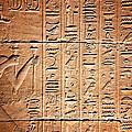 Hieroglyphs In The Temple Of Kalabsha  by Jaroslav Frank