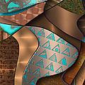 Hieroquoise Cupriglyphs by Ann Stretton