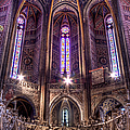 High Altar And Stained Glass Windows  by Weston Westmoreland
