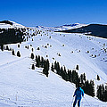 High Angle View Of Skiers Skiing, Vail by Panoramic Images