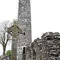 High Cross And Round Tower Monasterboice by Christiane Schulze Art And Photography