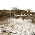 High Falls On The Genesee River Rochester New York At Flood Stage Circa 1904 by California Views Archives Mr Pat Hathaway Archives