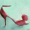 High Heel Red Shoes Painting by Beverly Brown