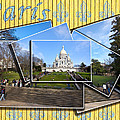 High On A Hill In Paris - Sacre Coeur by Mark E Tisdale