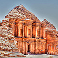 High Temple At Petra by David Birchall
