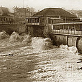 High Tide And Big Waves At Lovers Point Beach Pacific Grove California Circa 1907 by California Views Mr Pat Hathaway Archives
