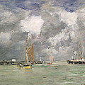 High Tide At Trouville by Eugene Louis Boudin