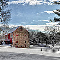 Highland Farms In The Snow by Bill Cannon