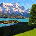 Highlands Of Chile  Lago Pehoe In Torres Del Paine Chile by MotionAge Designs