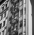 Highrise Fire Escape Bw by Jerry Fornarotto