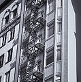 Highrise Fire Escape Selenium by Jerry Fornarotto