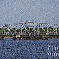 Highway 41 Swing Bridge Over The Wando River by Dale Powell