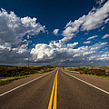 Highway Life - Blue Sky Down The Road In Oklahoma by Southern Plains Photography