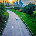 Highway Traffic Near A Big City by Alex Grichenko