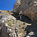 hiker in Dolomites by Antonio Scarpi